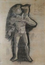 100 x 70 - Carbón - papel