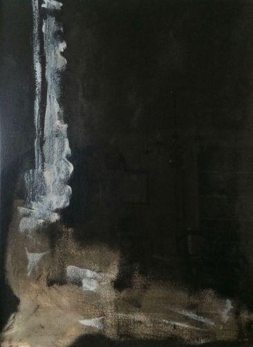 60 x 80 - Oleo, Tinta china - papel
