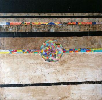 80 x 80 - Tinta china, pasta de mármol y betún - Lienzo